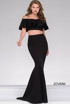 Jovani Off the Shoulder Two Piece Mermaid Dress 45164