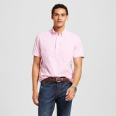 Merona Men's Short Sleeve Poplin Button Down Pink Popover Shirt