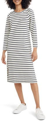 Madewell Nautical Stripe Pocket Tee Midi Dress