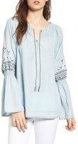 Cupcakes And Cashmere Women's Kendi Peasant Blouse