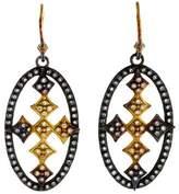 Armenta Sombrero Open Oval Cross Earrings
