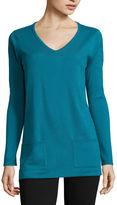 ST. JOHN'S BAY St. John's Bay Long-Sleeve Sweater Tunic