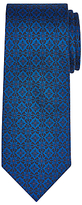 John Lewis Woven in Italy Tile Print Silk Tie, Blue