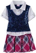 Nannette Mock-Layer Sequin Dress - Toddler Girl