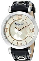 Salvatore Ferragamo Women's FG3020014 GANCINO DECO Analog Display Quartz Black Watch