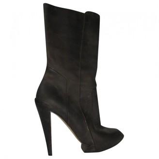 Nicholas Kirkwood Brown Leather Boots