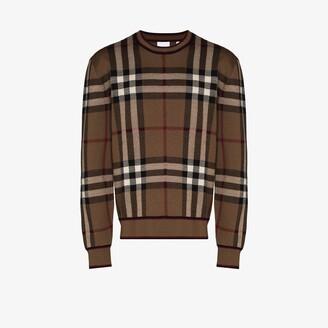 Burberry Naylor large check sweatshirt