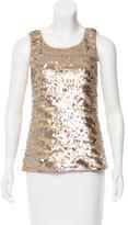 Rachel Zoe Sleeveless Sequined-Embellished Top