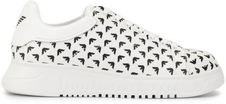Emporio Armani Logo Print Low-Top Sneakers