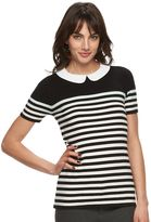 Elle Women's ELLETM Striped Crewneck Sweater