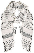 Yours Clothing YoursClothing Plus Size Womens Shawl Ladies Overd Dot Stripe Scarf