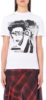 McQ by Alexander McQueen Band-print cotton-jersey t-shirt