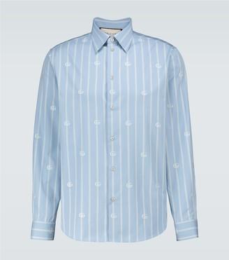 Gucci Striped GG printed shirt