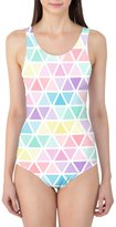 Queen of Cases Pastel Triangles Women's Swimsuit - L XS-3XL One Piece