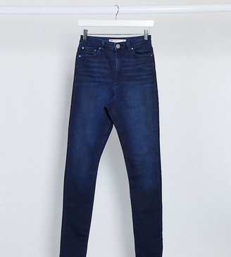 Asos Tall ASOS DESIGN Tall Ridley high waisted skinny jeans in rich mid blue wash