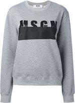 MSGM logo print sweatshirt - women - Cotton/Viscose - S