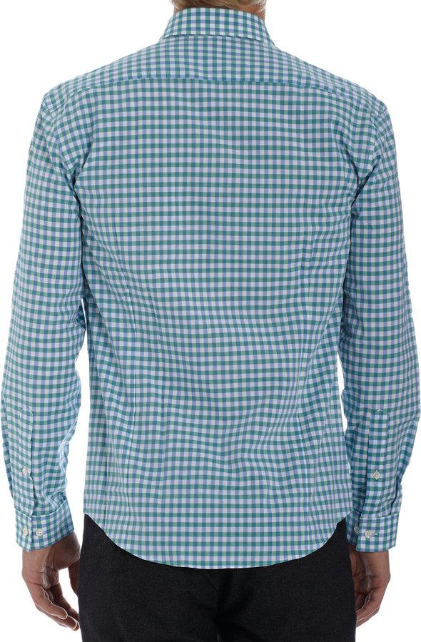 Barneys New York Gingham Long Sleeve Shirt