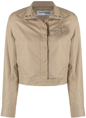 Courreges Embroidered-Logo Jacket