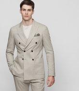 Reiss Reiss Paulo B - Slim-fit Blazer In Brown, Mens