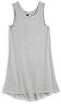 Aqua Girls' Striped Knit Tank Dress - Sizes S-XL