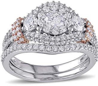 MODERN BRIDE 1 1/2 CT. T.W. Diamond 10K Two-Tone Gold Ring Set