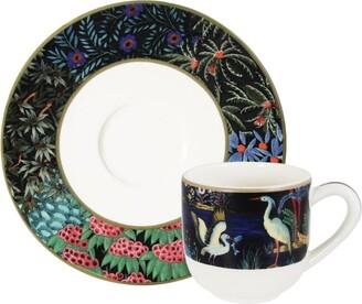 Gien Jardin Du Palais Espresso Cup With Saucer