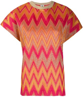 M Missoni Chevron-Pattern Knitted Top
