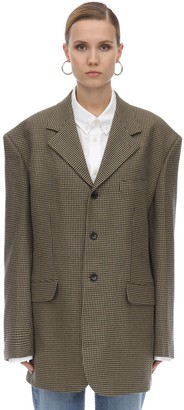 we11done Check Wool Blend Jacket