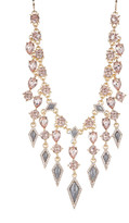 Jessica Simpson Rhinestone Embellished Chandelier Statement Necklace