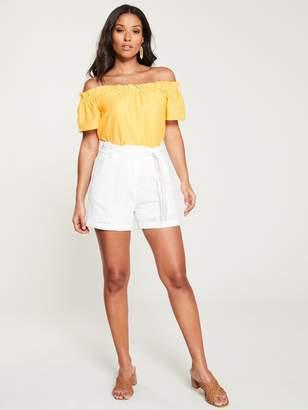 Very Bardot Top - Yellow