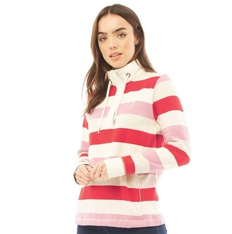 Crew Clothing Womens Toogle Stripe Jumper Multi Pink