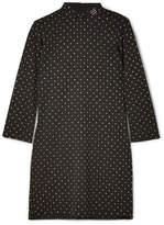 Marc Jacobs Crystal-embellished Fil Coupé Crepe Mini Dress - Black