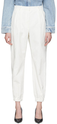 Alexander Wang White Corduroy Embroidered Sweatpant Trousers