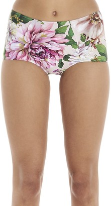 Dolce & Gabbana Printed Rose Bikini Bottoms