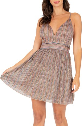Speechless Metallic Stripe Minidress