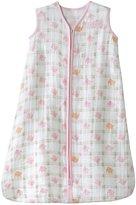 Halo 100% Cotton Muslin SleepSack Wearable Blanket - Pink Elephant - Medium