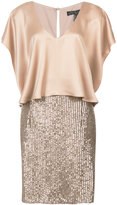 Aidan Mattox layered sequin dress