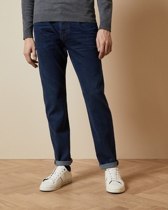 Ted Baker Straight Mid Wash Jeans