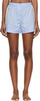 Raphaëlla Riboud Blue Cotton & Lace Fred Shorts
