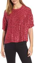Velvet by Graham & Spencer Women's Short Sleeve Sequin Top