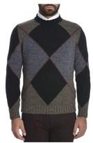 H953 Men's Blue/grey Wool Sweater.