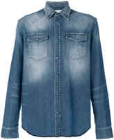 Maison Margiela bleach effect denim shirt - men - Cotton - 39