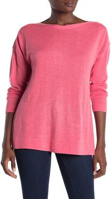 Magaschoni M Drop Shoulder Solid Pullover Sweater