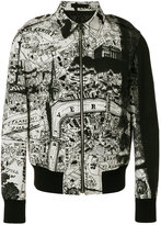 Alexander McQueen city map bomber jacket - men - Virgin Wool/Mohair/Polyamide/Goose Down - 46