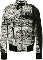 Alexander McQueen city map bomber jacket