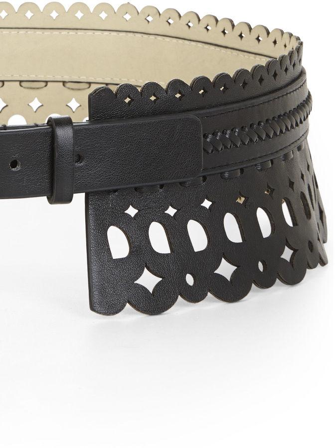BCBGMAXAZRIA Scallop Waist Belt