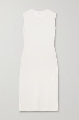 Allude Cotton And Cashmere-blend Midi Dress - Cream