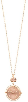 Retrouvai - Grandfather Compass Diamond & 14kt Gold Necklace - Womens - Rose Gold