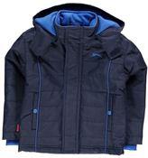 Slazenger Kids Boys Padded Jacket Infant Coat Top Long Sleeve Hooded Zip Full