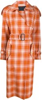 Marni boxy fit checked trench coat